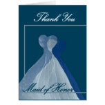 THANK YOU Maid of Honor - Blue Gowns Card