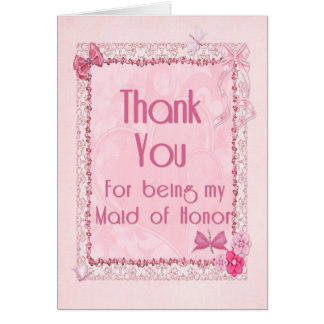Thank you Maid of honor Card