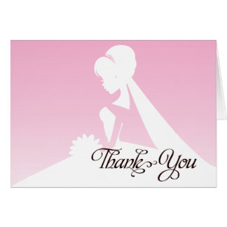 Thank you Maid of Honor Pretty Pink Wedding Card