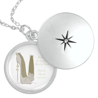 Thank You Maid of Honor Wedding Favour Necklace