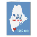 Thank you - Maine - Customizable Card