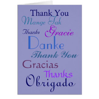 Thank you ~ many languages stationery note card