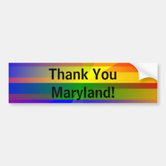 """""""Thank You Maryland"""" Car Bumper Sticker"""