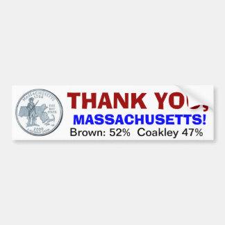 Thank you, Massachusetts Bumper Sticker