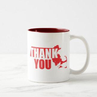 Thank You Massachusetts Two-Tone Coffee Mug