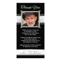 Thank You Memorial Black & White Photo Card