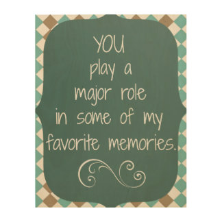 Thank You Memories Quote Wood Wall Decor