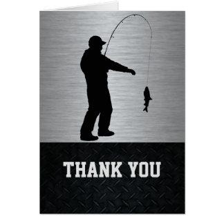 Thank You Men's Fishing Note Card