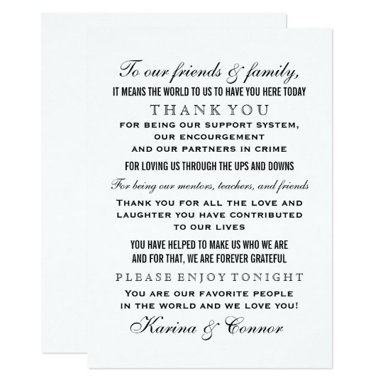 Wedding thank you cards greetings