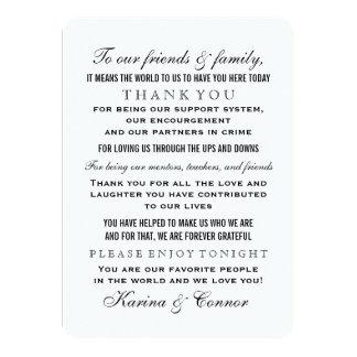 Thank You Message Card | Black Wedding