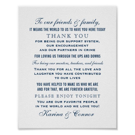 Thank You Message Wedding Gift: Moody Blues Gifts On Zazzle