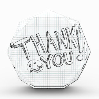 Thank You Messages Acrylic Award