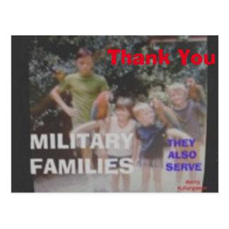 THANK YOU  MILITARY FAMILIES POSTCARD