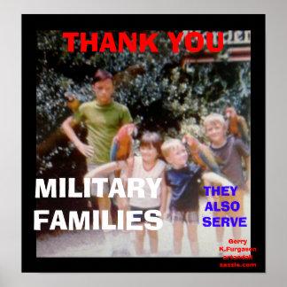 THANK YOU MILITARY FAMILIES PRINT
