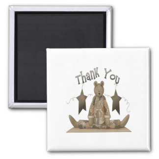 Thank you military 2 inch square magnet