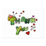 Thank You Mini Cards Large Business Cards (Pack Of 100)