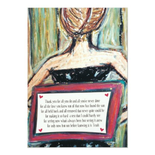 thank you | mini-print personalized announcement