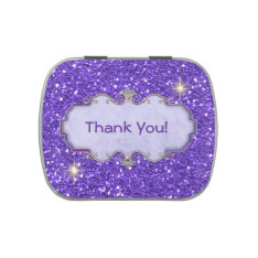Thank You Mints Purple Crystal/bling Favor Jelly Belly Candy Tins at Zazzle