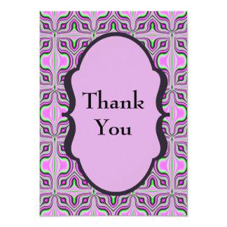 Thank You Mod Pink Mauve Card