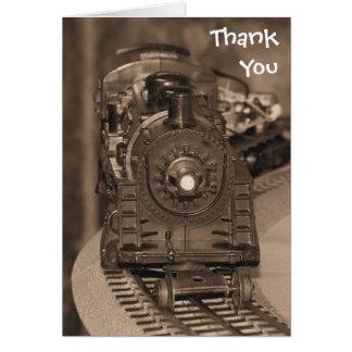 Thank You Model Train Card