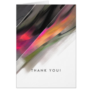 Thank You. Modern Abstract design Greeting Cards