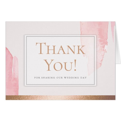 Thank You - Modern Blush Pink Watercolor