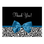 Thank You Modern Leopard Mykonos Blue Ribbon Postcards