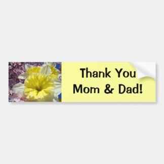 Thank You Mom & Dad bumper stickers Daffodils
