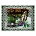 Thank You Mom Love Butterfly Nature Poster Print print