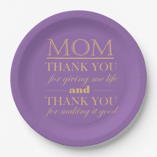 Thank You Mom, Mother's Day Plate