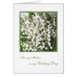 Thank you Mom, Wedding. White Lily of the valley. Stationery Note Card