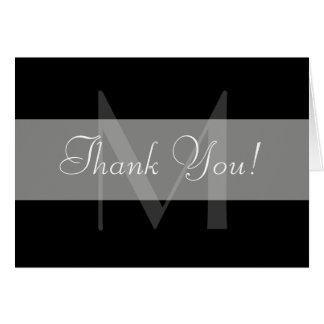 Thank You Monogram Card