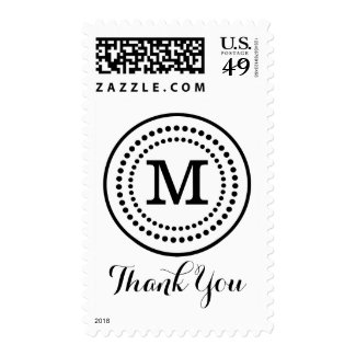 Thank You Monogram Initial Postage