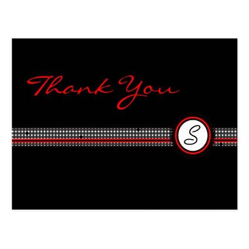 Thank You Monogram Postcard