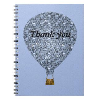Thank You Mosaic Hot Air Balloon Meeting Notebook