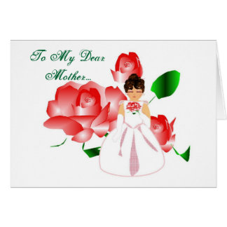 """Thank You Mother From Daughter"" Wedding Day Card Card"