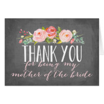 Thank You | Mother of The Bride Card