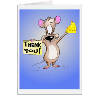 Thank You Mouse Greeting Card
