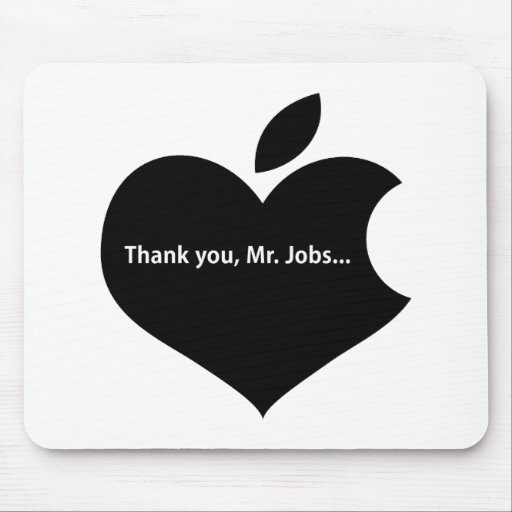 THANK YOU MR JOBS MOUSE PADS