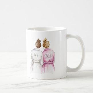 Thank You Mug Auburn Bride Dark Blonde Maid Basic White Mug