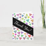 """[ Thumbnail: """"Thank You!"""" + Multicolored Triangles Pattern Card ]"""