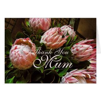 Thank You Mum Protea flower Card