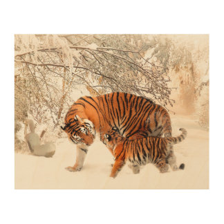 Thank you Mum Tiger and Cub Wood Wall Decor