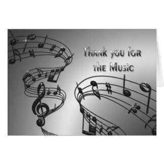 Thank You - Music - Notes - Musical Greeting Card
