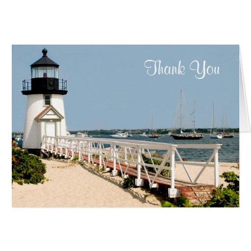 Thank You Nantucket  MA Lighthouse Card - Verse