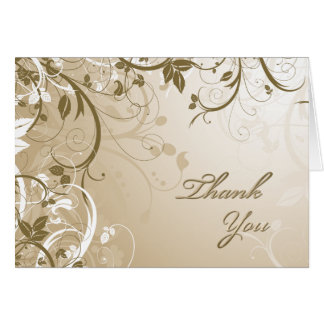 Thank You Natural Floral Card