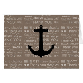 Thank You Nautical Anchor Best Man Card