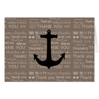 Thank You Nautical Anchor Best Man Card