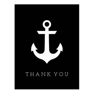 Beach Themed Thank You | Nautical Anchor Postcard