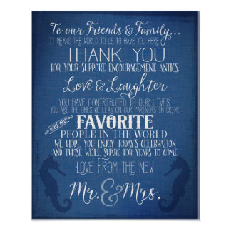 thank you nautical navy blue wedding peony sign